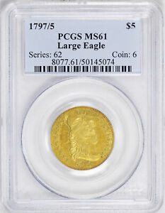 Click now to see the BUY IT NOW Price! 1797/5 DRAPED BUST $5 PCGS MS 61