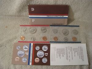 1984 US MINT SET   P&D UNCIRCULATED   HALF QUARTER DIME NICKEL & CENT