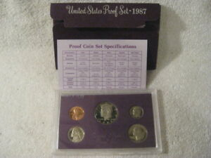 1987 S  U.S.PROOF SET. GENUINE. COMPLETE AND ORIGINAL AS ISSUED BY US MINT.