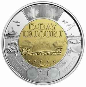 2019 CANADA  D DAY $2 DOLLAR COIN   NON COLORED VERSION; BU FROM ROLL; LK