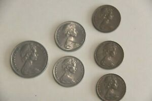 AUSTRALIA COINS 6 COINS 1 20C 2 10C 3  2C NICE DETAIL SEE PICTURES