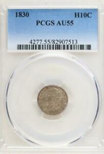 1830 CAPPED BUST HALF DIME PCGS AU55   GREAT TYPE COIN     DOUBLEJCOINS 2005 76