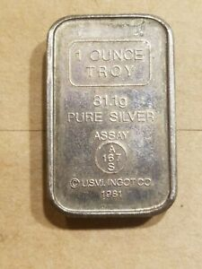 Click now to see the BUY IT NOW Price! 1981 USVI INGOT COMPANY 1 TROY OZ .999 SILVER STACKABLE BAR ANAHEIM METAL CO.