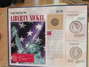 LIBERTY NICKEL 1883 1913 GENUINE UNITED STATES MINT.