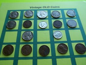 ESTATE LOT OF OLD COINS 50 TO 125 YEARS OLD WITH SOME SILVER  16 COINS   OC3