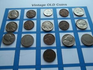 ESTATE LOT OF OLD COINS 50 TO 125 YEARS OLD WITH SOME SILVER  16 COINS   OC32