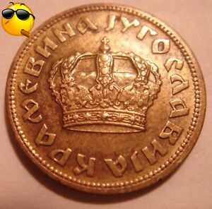 1938 50 PARA CROWN GOLD IN COLOR COIN