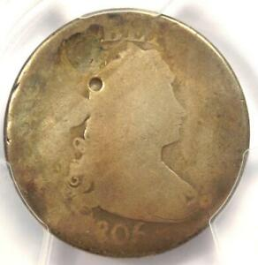 1806/5 DRAPED BUST QUARTER 25C COIN   CERTIFIED PCGS AG DETAILS    COIN
