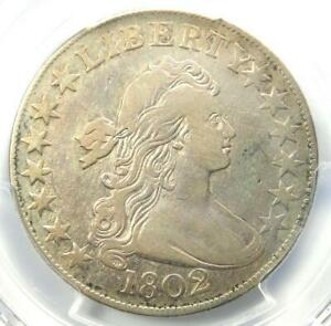 1802 DRAPED BUST HALF DOLLAR 50C COIN   PCGS VF DETAILS    DATE   NEAR XF