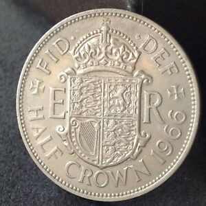 1966 HALF CROWN 2/6 COIN EXCELLENT FREE UK P&P