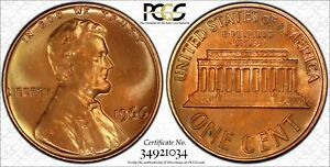 TONED 1966 SMS 1C LINCOLN CENT  SPECIAL STRIKE  GRADED BY PCGS SP66RB