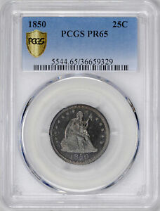 Click now to see the BUY IT NOW Price! 1850 LIBERTY SEATED 25C PCGS PR 65