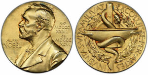 Click now to see the BUY IT NOW Price! SWEDEN ALFRED NOBEL 1985  L10  GILDED AR NOMINATING COMMITTEE MEDALET PCGS SP65