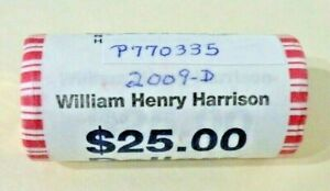 2009 D WILLIAM HENRY HARRISON PRESIDENTIAL DOLLAR UNC. ROLL  [P335]