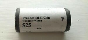 2013 P WOODROW WILSON  PRESIDENTIAL DOLLAR ONE ROLL OF 25 COINS UNCIRCULATED