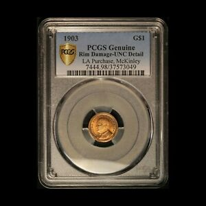 1903 $1 MCKINLEY GOLD COMMEMORATIVE LOUISIANA PURCHASE PCGS W/  GOLD TONING
