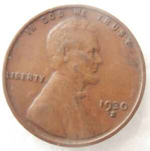 1930 S   WHEAT PENNY ERROR