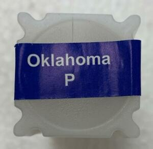 2008 P OKLAHOMA UNCIRCULATED STATEHOOD QUARTER 40 COIN ROLL