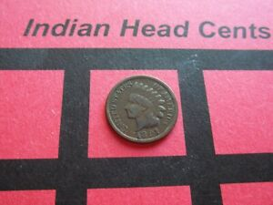 NICE 1891 INDIAN HEAD CENT   CIRCULATED   IHCS14