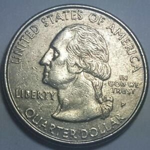 1999 P STATE QUARTERS DELAWARE OBVERSE DIE BREAK CHIP ON LIBERTY ERROR COIN