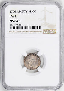 Click now to see the BUY IT NOW Price! 1796 DRAPED BUST H10C PCGS MS 64