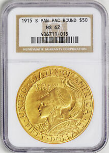 Click now to see the BUY IT NOW Price! 1915 S GOLD $50 PCGS MS 62