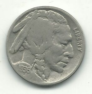 A VINTAGE FINE CONDITION 1936 P BUFFALO NICKEL COIN OLD US COIN OCT633