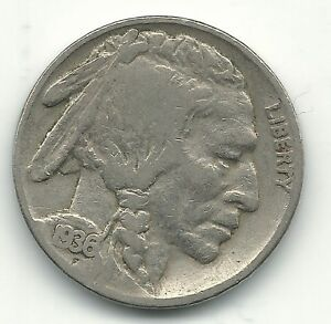 A VINTAGE FINE CONDITION 1936 P BUFFALO NICKEL COIN OLD US COIN OCT532