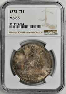 Click now to see the BUY IT NOW Price! 1873 TRADE T$1 NGC MS 66