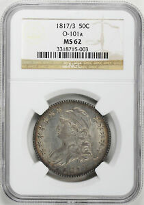 Click now to see the BUY IT NOW Price! 1817/3 CAPPED BUST 50C NGC MS 62
