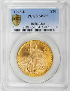 Click now to see the BUY IT NOW Price! 1925 D ST. GAUDENS $20 PCGS MS 65