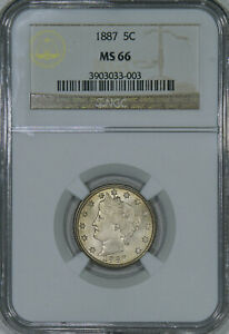 Click now to see the BUY IT NOW Price! 1887 NGC MS66 LIBERTY NICKEL SUPER LUSTROUS ORIGINAL COIN TOP OF GRADE PQ GEM