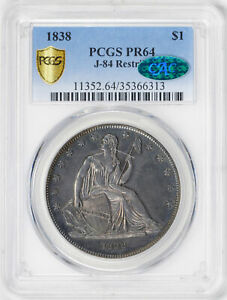 Click now to see the BUY IT NOW Price! 1838 GOBRECHT S$1 PCGS PR 64
