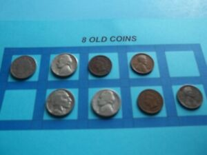 VINTAGE LOT OF 8 OLD AND  COINS THAT ARE 50 125 YEARS OLD  8 COINS  IVBW65