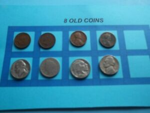 VINTAGE LOT OF 8 OLD AND  COINS THAT ARE 50 125 YEARS OLD  8 COINS  IVBW63