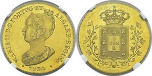 Click now to see the BUY IT NOW Price! PORTUGAL. MARIA II. 1834 AV PECA 6400 REIS. NGC MS64. KM 405. SUPERB PL.