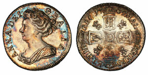 Click now to see the BUY IT NOW Price! GR BRITAIN ANNE 1705 AR SIXPENCE. NGC MS63 S 3592; ESC 1448 ATTRACTIVELY TONED