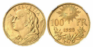 Click now to see the BUY IT NOW Price! SWITZERLAND. 1925 B AV 100 FRANCS. NGC MS64 BERN FR. 502; DIVO 359; SCHL. 20.