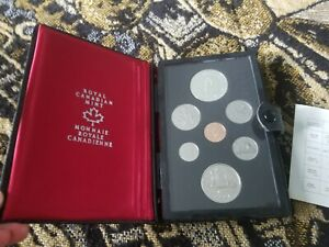 CANADA DOUBLE DOLLAR PROOF SET   1977   ORIGINAL PACKAGING AND COA & BOX