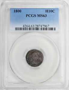 Click now to see the BUY IT NOW Price! 1800 DRAPED BUST H10C PCGS MS 63