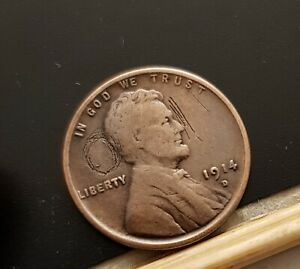 LINCOLN CENT 1914 D QUALITY SEE THE PHOTOS