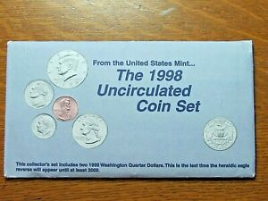 1998 P&D UNCIRCULATED US COIN MINT SET