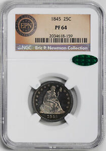 Click now to see the BUY IT NOW Price! 1845 LIBERTY SEATED 25C NGC PR 64