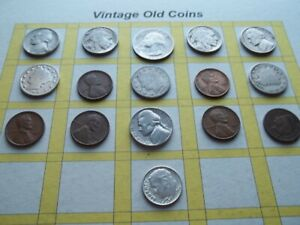 ESTATE LOT OF OLD COINS 50 TO 125 YEARS OLD WITH SOME SILVER  16 COINS   OC25