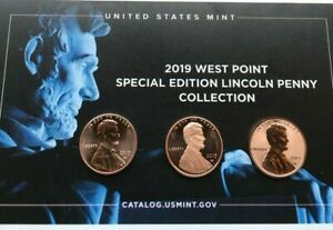 2019 W UNCIRCULATED PROOF REVERSE PROOF.LINCOLN CENT PENNY  SET OF THREE