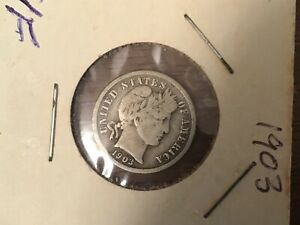 1903 BARBER SILVER DIME US UNITED STATES COIN