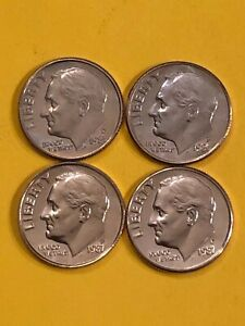 DIME 1986PD 1987PD UNCIRCULATED
