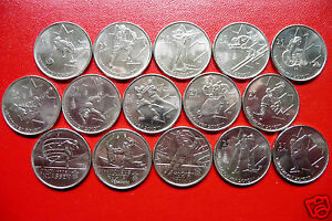 15 CANADA YEAR 2007 2008 2009 OLYMPIC 25 CENTS   COMPLETE SET