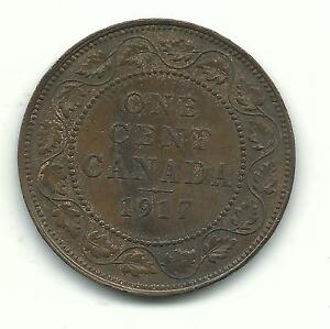 VERY NICE HIGH GRADE 1917 CANADA LARGE CENT APR392