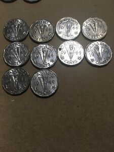 OLD CANADIAN NICKEL LOT   33 COINS 1944 TO 1951